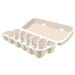 Opened egg carton