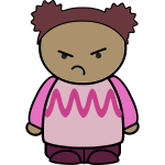 Young girl with angry face