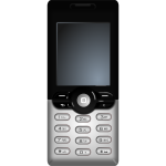Cellular phone vector clip art