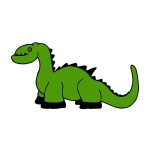 Dinosaur toy vector image