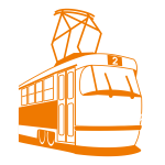 Tramway vector drawing