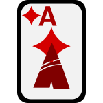 Ace of Diamonds funky playing card vector clip art
