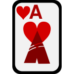 Ace of Hearts funky playing card vector clip art