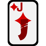 Jack of Diamonds funky playing card vector clip art