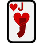 Jack of Hearts funky playing card vector clip art