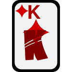 King of Diamonds funky playing card vector clip art