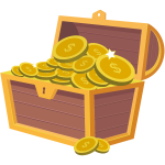 Treasure chest full of money