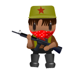 Revolutionary soldier with a gun