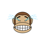 Monkey crying image