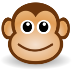 Cartoon monkey's face