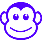 Face of the monkey