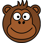 Monkey caricature