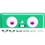 Vector illustration of cute box monster character