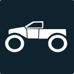 Monster truck icon vector
