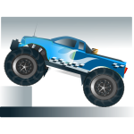 Monster truck stunt vector