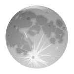 Vector image of shiny planet moon