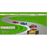 Vector illustration of formula race