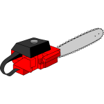 Vector illustration of electric wood saw