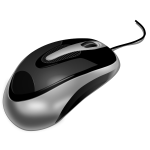 Photorealistic vector image of computer mouse
