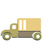 Box truck vector image