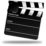 Recording clapper board vector image