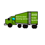 Vector drawing of closed moving truck