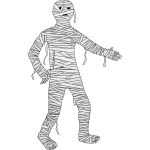 Walking mummy vector image