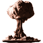Atomic Bomb Cloud Vector Graphics