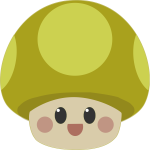 Mushroom icon cartoon
