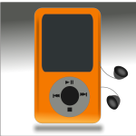 iPod media player vector drawing