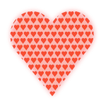 Heart in Heart (light red)