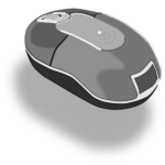 Photorealistic PC mouse vector clip art