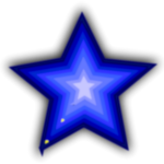 Blue simple star