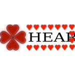 Shamrock and heart vector illustration