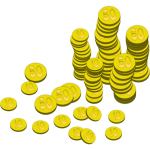 Coins vector art
