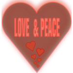 Love and peace in heart vector image
