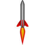 Rocket at take -off vector clip art