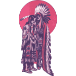 Native American couple vector image