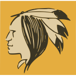 Native man's head