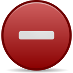 Negative red icon