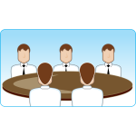 Round table meeting vector image