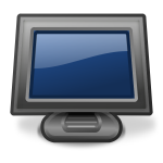 PC monitor vector illustration