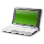 Netbook vector image