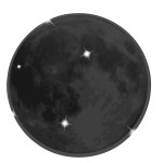 Shiny moon vector image