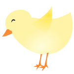 Vector image of a chick