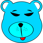 Vector clip art of simple blue bear face