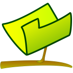 Vector graphics of green computer sign