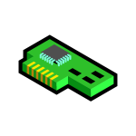 PC network card icon vector clip art