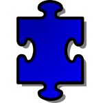 Vector clip art of puzzle piece 1