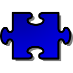 Vector image of puzzle piece 2